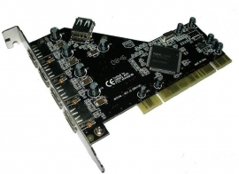 USB 2.0 (5prt) pci kaart Digitus sd-usb2.0-nec-5