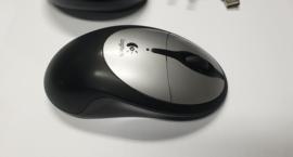 Logitech Cordless Rechargeable Mouse M-RAK89D incl. reciver/lader.
