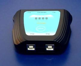 Usb switch (4xpc) naar 1 usb apparaat