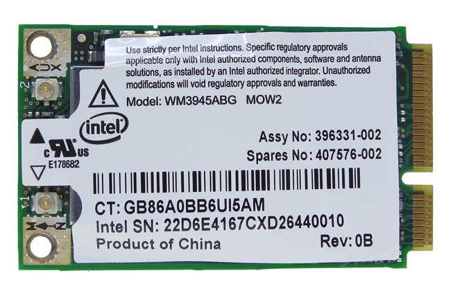 Intel® PRO / Wireless WM3945ABG mini pci/e wifi