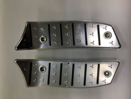Voetplaat set aluminium  Chrome Vespa look
