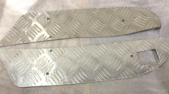 Aluminium voetplaat set Quads 260 cc