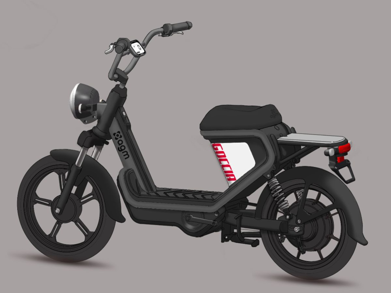 Electrische  Scooter AGM  Goccia  GEV 1000  Antraciet