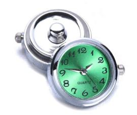 Horloge drukknop groen