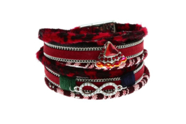 Wikkelarmband bordeau-rose