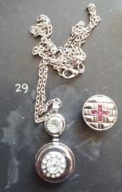Ketting druppels met 18 mm beads