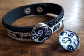 Armband zwart bont