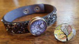 Armband zwart-zilver glitter