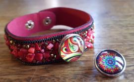 Armband rood steen