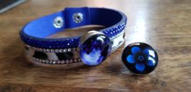 Armband blauw bont