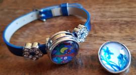 Armband blauw glans