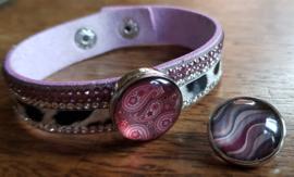 Armband rose bont