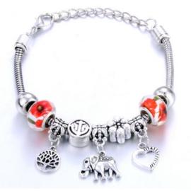 Armband olifant hart boom