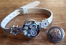 Armband zilverkleur glitter