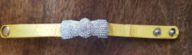 Gele strikarmband