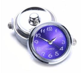 Horloge drukknop blauw