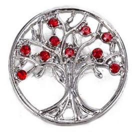 drukknop levensboom rood