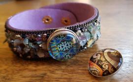 Armband aardetinten steen