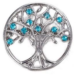 Drukknop levensboom blauw