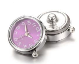 Horloge drukknop paars