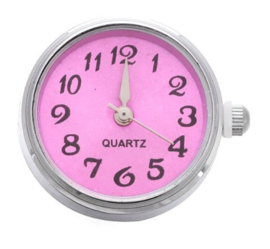 Horloge drukknop rose