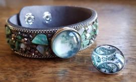 Armband groen steen