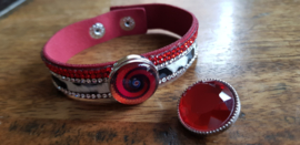 Armband rood bont