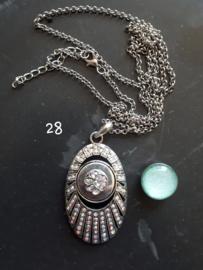 Ketting ovaal met 18 mm beads