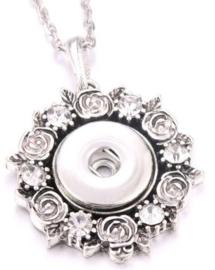 Ketting roosjes met 18 mm beads