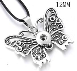 Ketting vlinder met 12 mm beads
