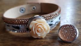 Armband beige bont