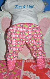 Baby broek Pinquins roze