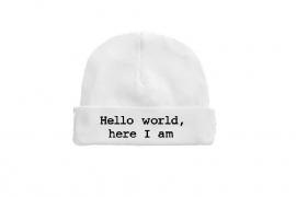 Hello world, here I am