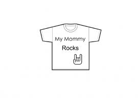 """Tshirt """"My Mommy Rocks"""""""
