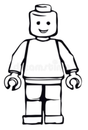 Strijkapplicatie Lego poppetje