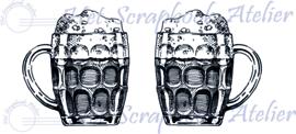 HP Stempel 115d, set bierglazen groot, 3,3 cm hoog