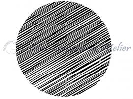HP Stempel 68d, Cirkel, lijntjes, 4,5 cm