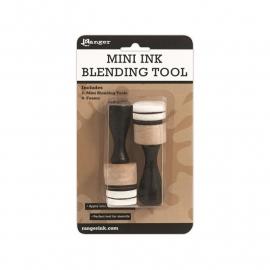 Mini Ink Blending Tool, 2 tools, rond, met 4 sponsjes