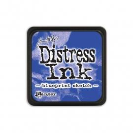 Distress Ink Mini Blueprint Sketch