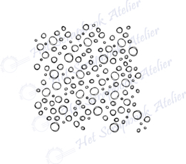 HP Stempel 116f, achtergrond stempel bubbels