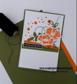HP Stempel 108a, 2 bloemen omlijningen met vullingen