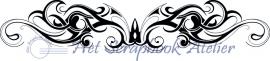HP Stempel 26e Design langgerekte swirl