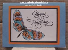 HP Stempel 35e Happy birthday sierlijk