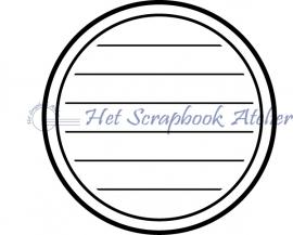 HP Stempel 24b Tekstkader rond strak