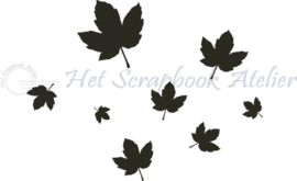 HP Stempel 44k, herfstblaadjes mini background