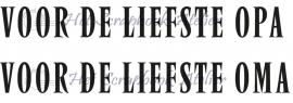 HP Stempel 13k Set 2 teksten opa/oma