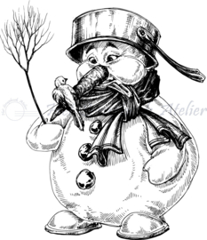 HP Stempel 79o, Sneeuwpop met bezem