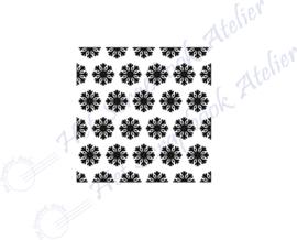 HP Stempel 118a4, vierkantje 3x3 cm: sneeuwvlokjes