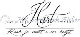 HP Stempel 57a Wat je in je hart........