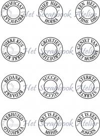 HP Stempel 51b Eyelet stempels kaarttekstjes 12